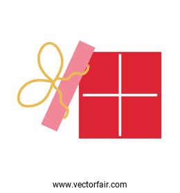 birthday gift box wrapped ribbon decoration