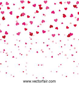 red and pink love heart romantic seamless pattern