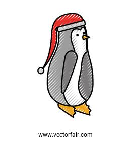 christmas penguin with hat decoration funny