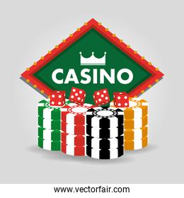 casino billboard dice and chips gamble poster