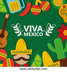 viva mexico tradition culture festival poster greeting