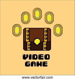 video game treasure chest coin money