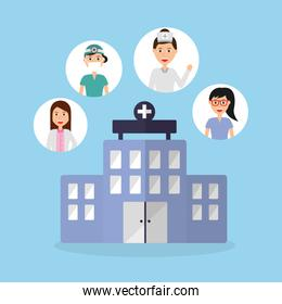 building hospital doctors physician staff profession