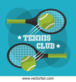 two racket and balls tennis club sport game