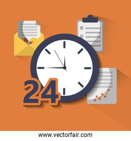 time clock service 24 help hour work