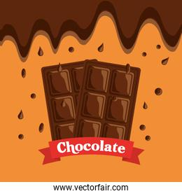 melted chocolate bars drops dessert banner