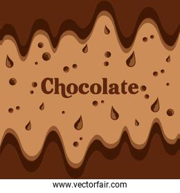 melted chocolate streams dripping image