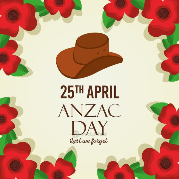 anzac day lest we forget card remembrance memorial national