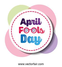 beautiful badge celebration party april fools day