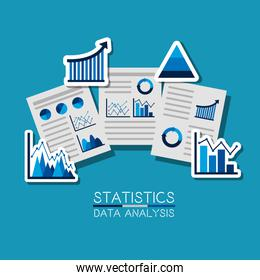business documents report documents working management statistics data analysis