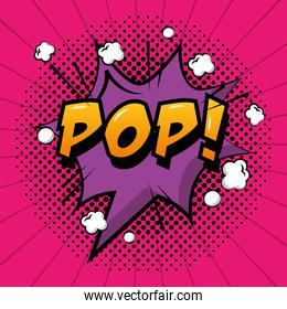 comic pop art speech bubble