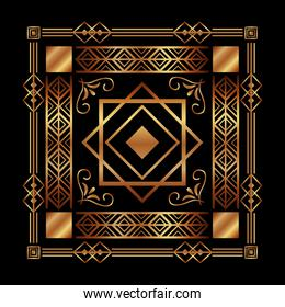 art deco background geometric adornment abstract
