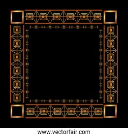 art deco frames and borders