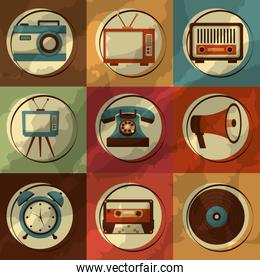 retro vintage devices