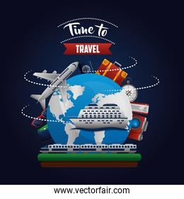time to travel around the world