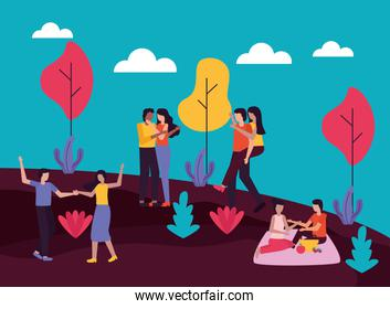 couple romantic activities outdoors flat