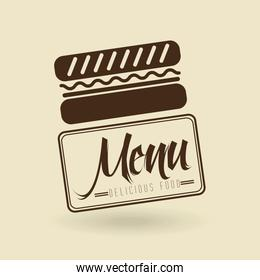 menu delicious food  design