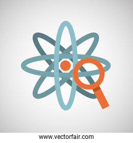 atom magnifying glass search