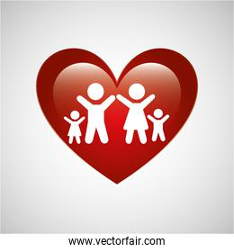 family people love heart