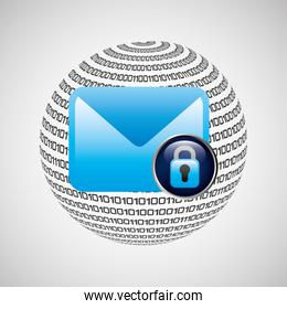 Security mail icon