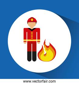firefighter job icon