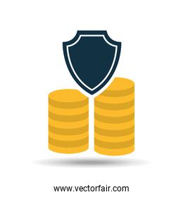 insurance currency money coin icon design