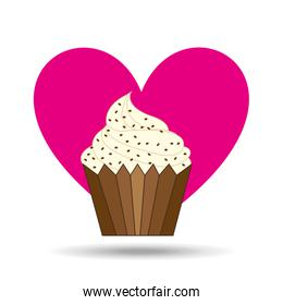 heart cartoon sweet cup cake chip candy icon design