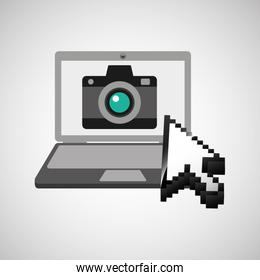 traveling concept, technology camera photo design graphic
