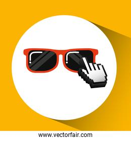 traveling concept, technology sunglasses design graphic