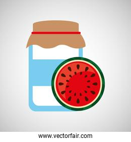 jar cute blue with jam watermelon graphic