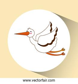 stork bird icon design graphic