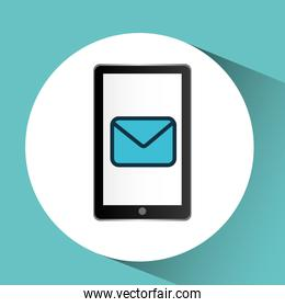 smartphone black message email graphic