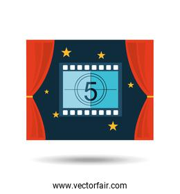 concept cinema theater strip counting graphic design