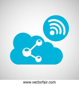 cloud share connection internet concept graphic