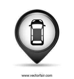 sign car parking vehicle icon