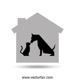 dog and cat ptes house icon