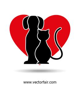 symbol pet shop dog and cat icon