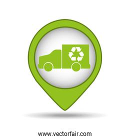 truck recycle icon pin map