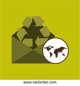 world recycling design graphic