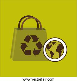 world recycling bag design graphic