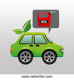 eco car oil canister icon