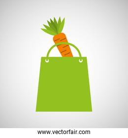 bag shopping food icon tasty carrot