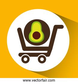 cart buy avocado food