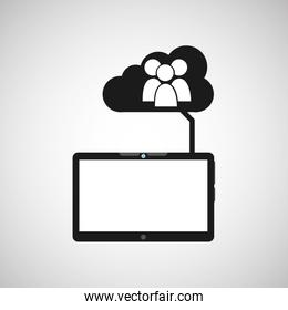 cloud device group media apps graphic
