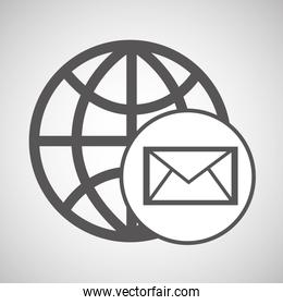 technology globe media email graphic