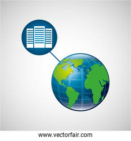 earth global data center connected media