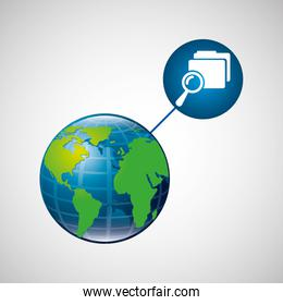 earth global search folder connected media