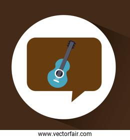 blue guitar vintage background icon