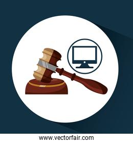 business finacial, judge gavel icon design
