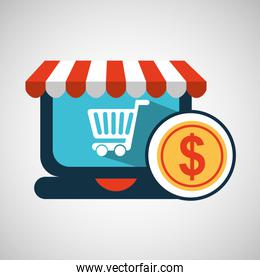e-commerce concept currency money icon